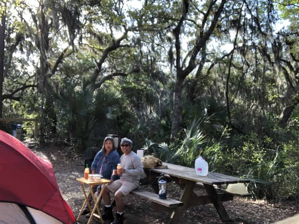 The Traveling Chefs' First Camping